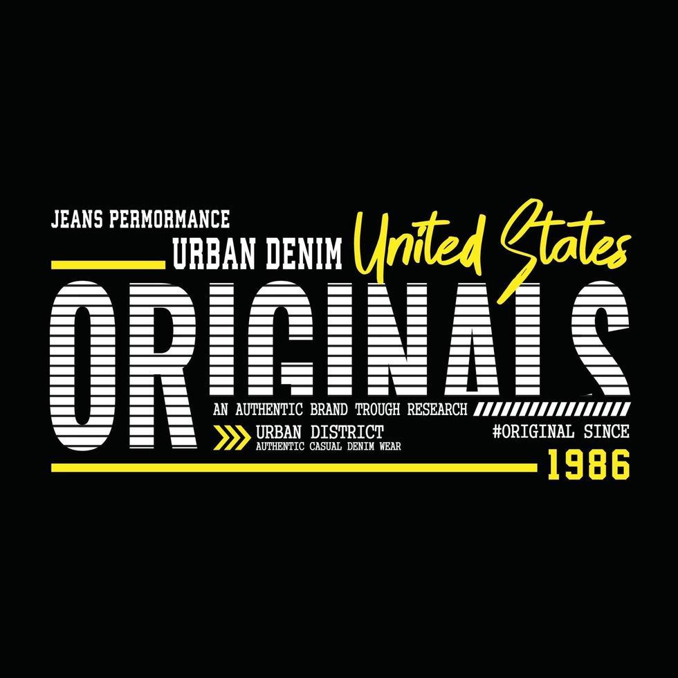 original urbana kläder typografi design vektor