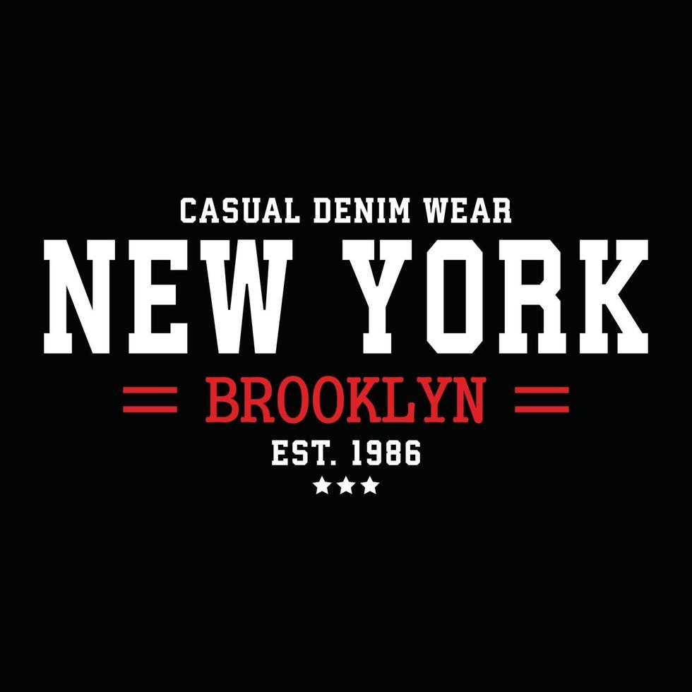 new york city urban kläder typografi design vektor