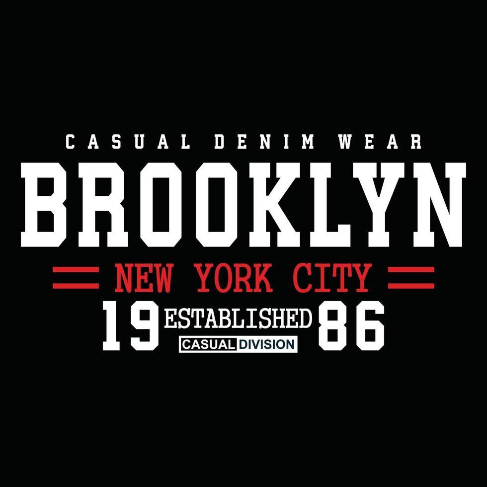 original brooklyn urban klädsel typografi design vektor