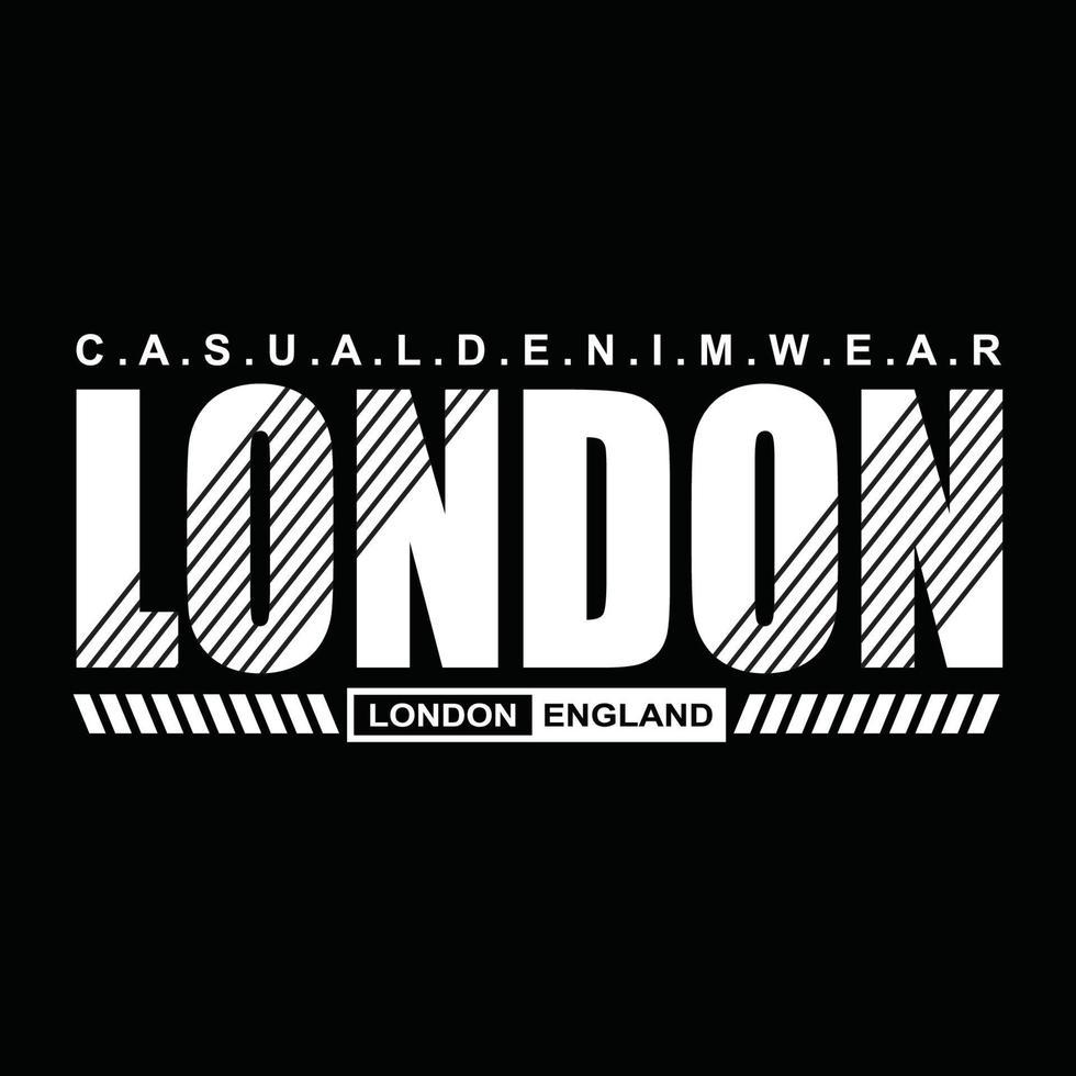 london urban kläder typografi design vektor