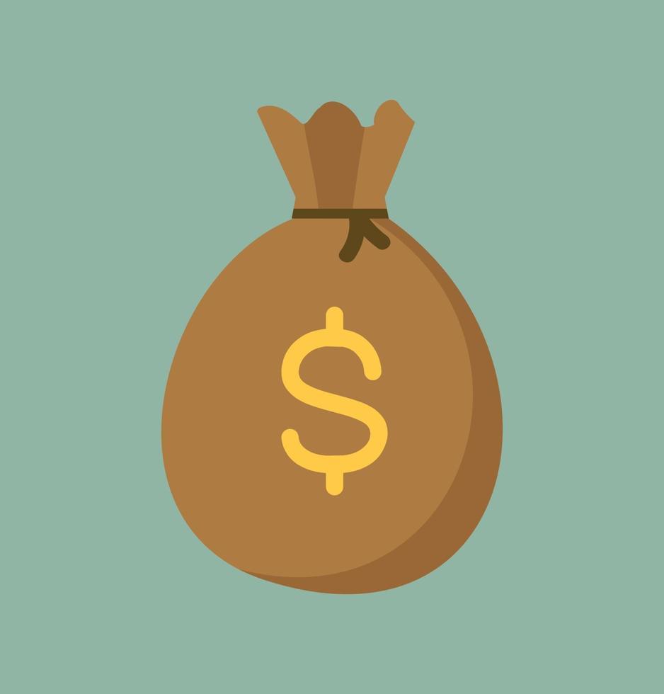 pengar väska säck ikon design vektor