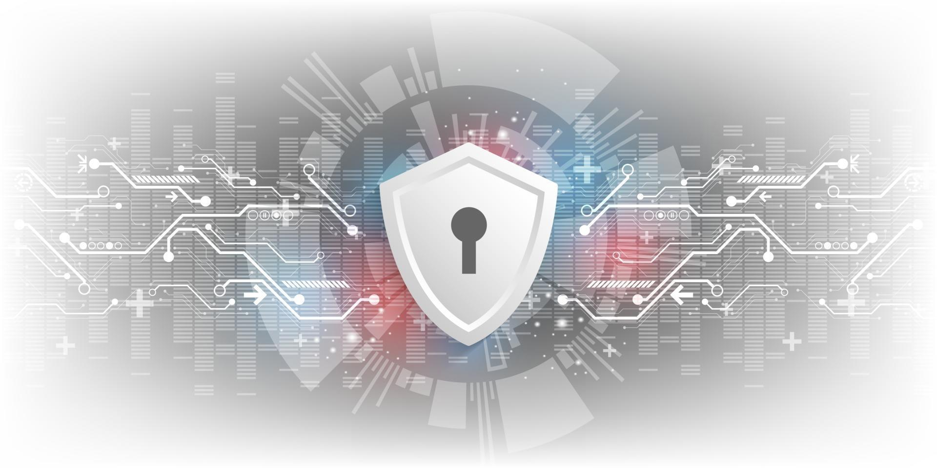 Hintergrund der Vektortechnologie im Konzept der Sicherheitssysteme. vektor