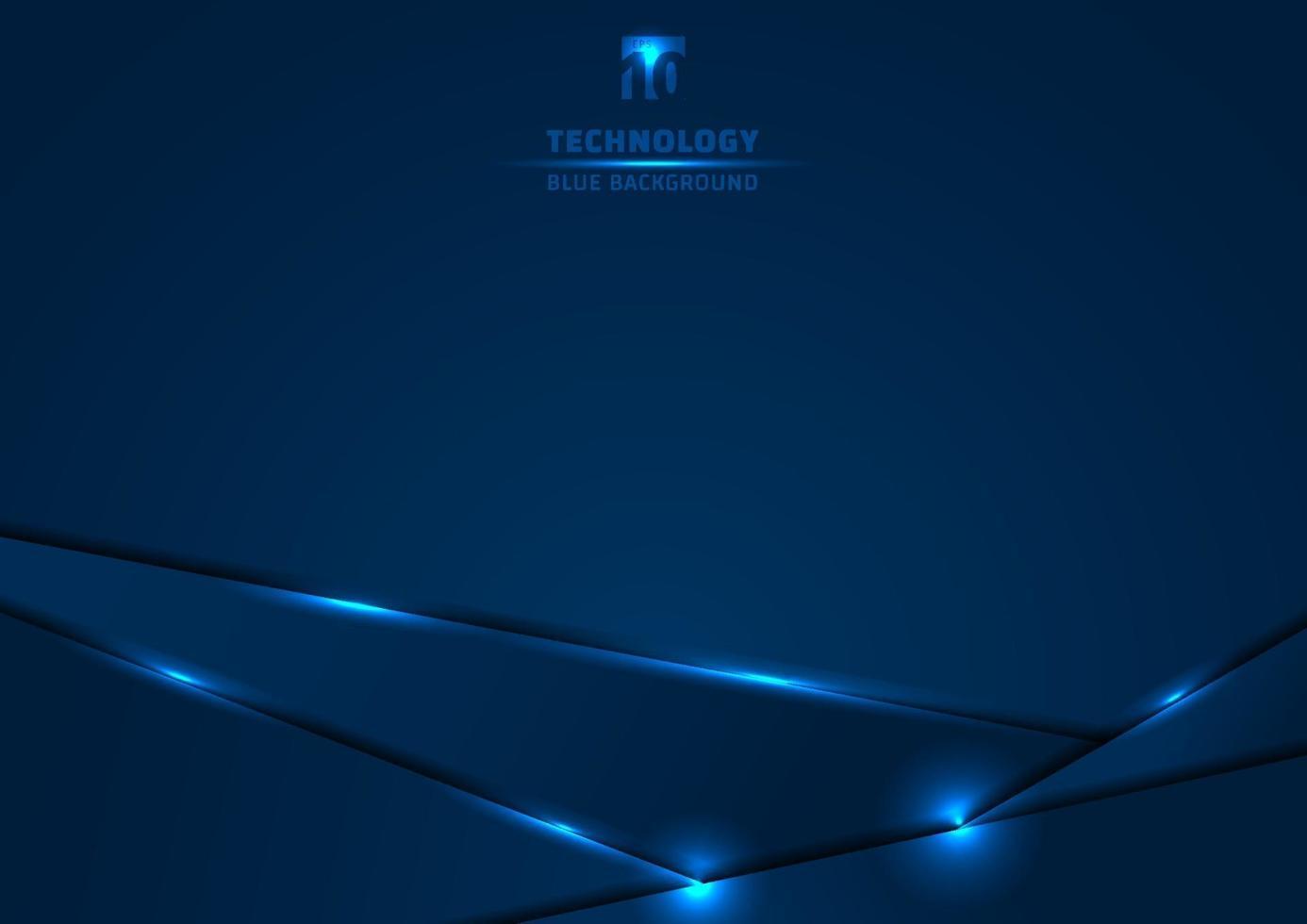 mall metallisk blå och glans belysning ram layout design teknik innovation koncept med utrymme din text. vektor