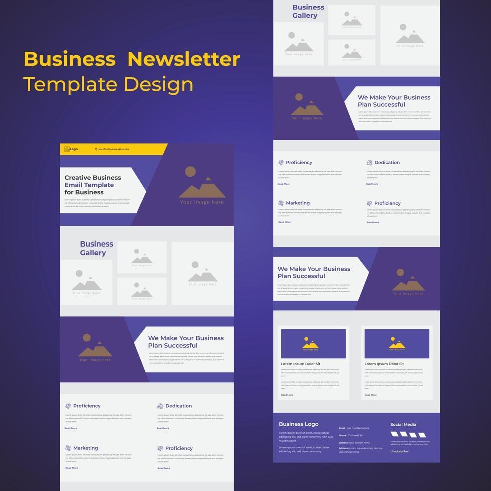 kreatives E-Mail-Newsletter-Vorlagendesign für Unternehmen vektor