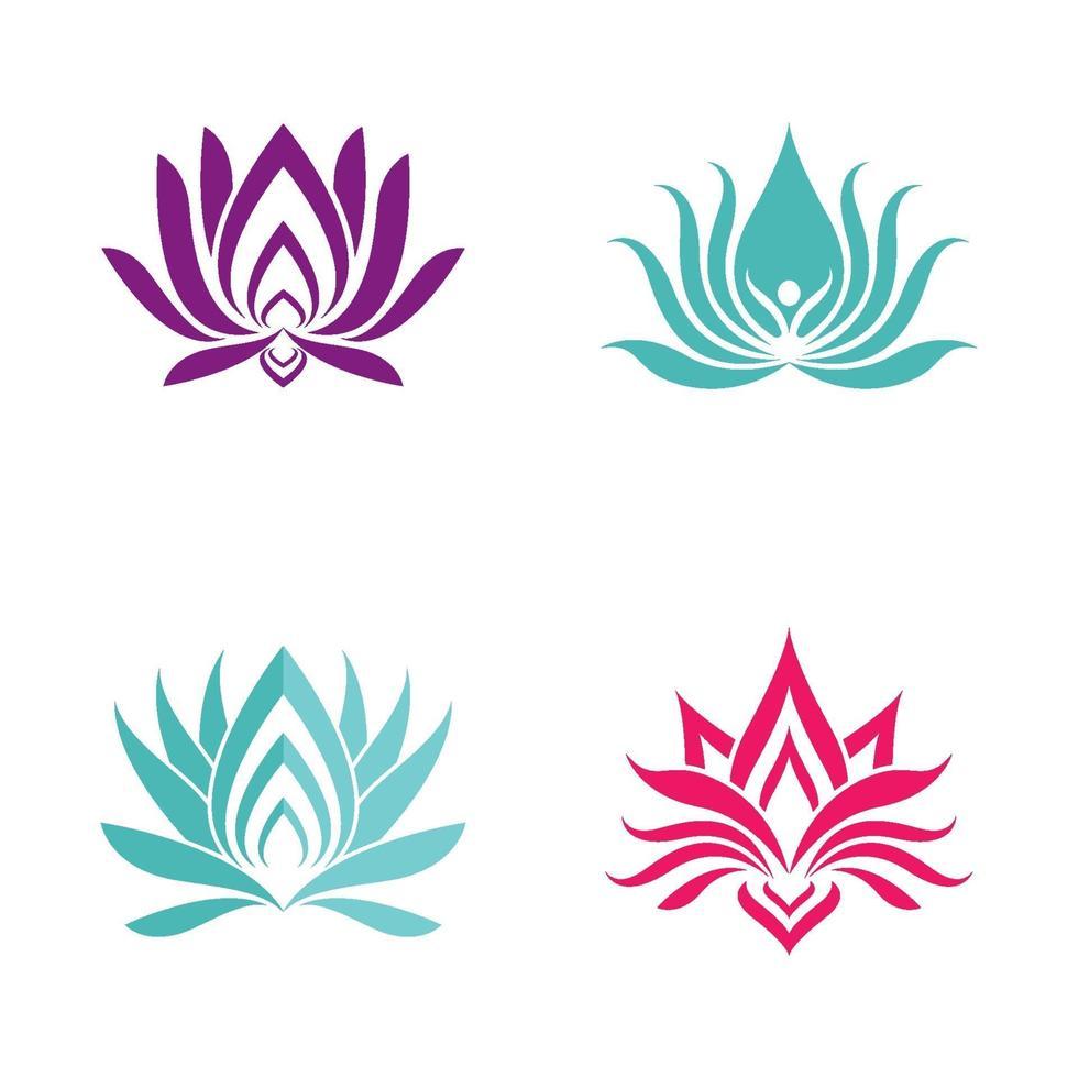 skönhet lotus logotyp bilder set vektor