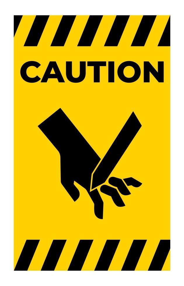 Schneiden von Fingern abgewinkelt Klinge Symbol Zeichen, Vektor-Illustration, isolieren auf weißem Hintergrund Etikett .eps10 vektor