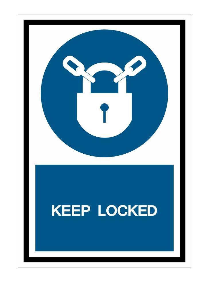 hålla låst symbol tecken isolera på vit bakgrund vektor