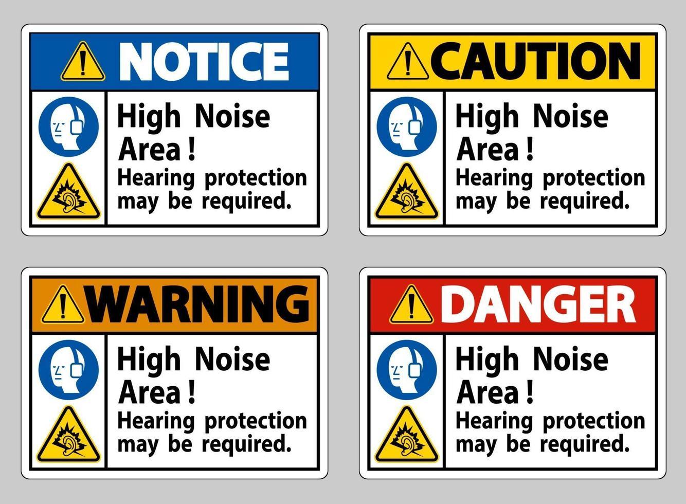 hörselskydd med högt ljudområde kan krävas vektor