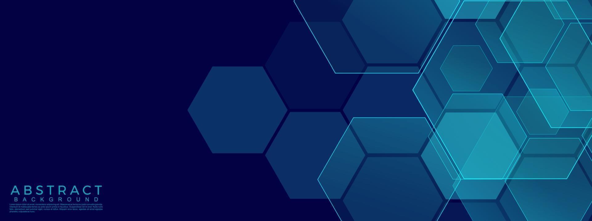 sexkantig abstrakt teknikbakgrund. vektor illustration