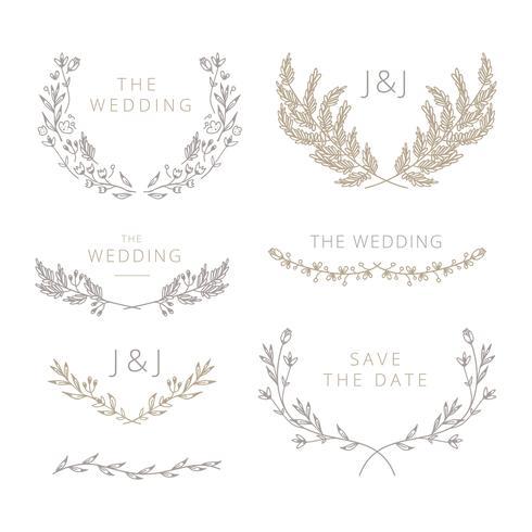 Hochzeit Element Sammlung vektor