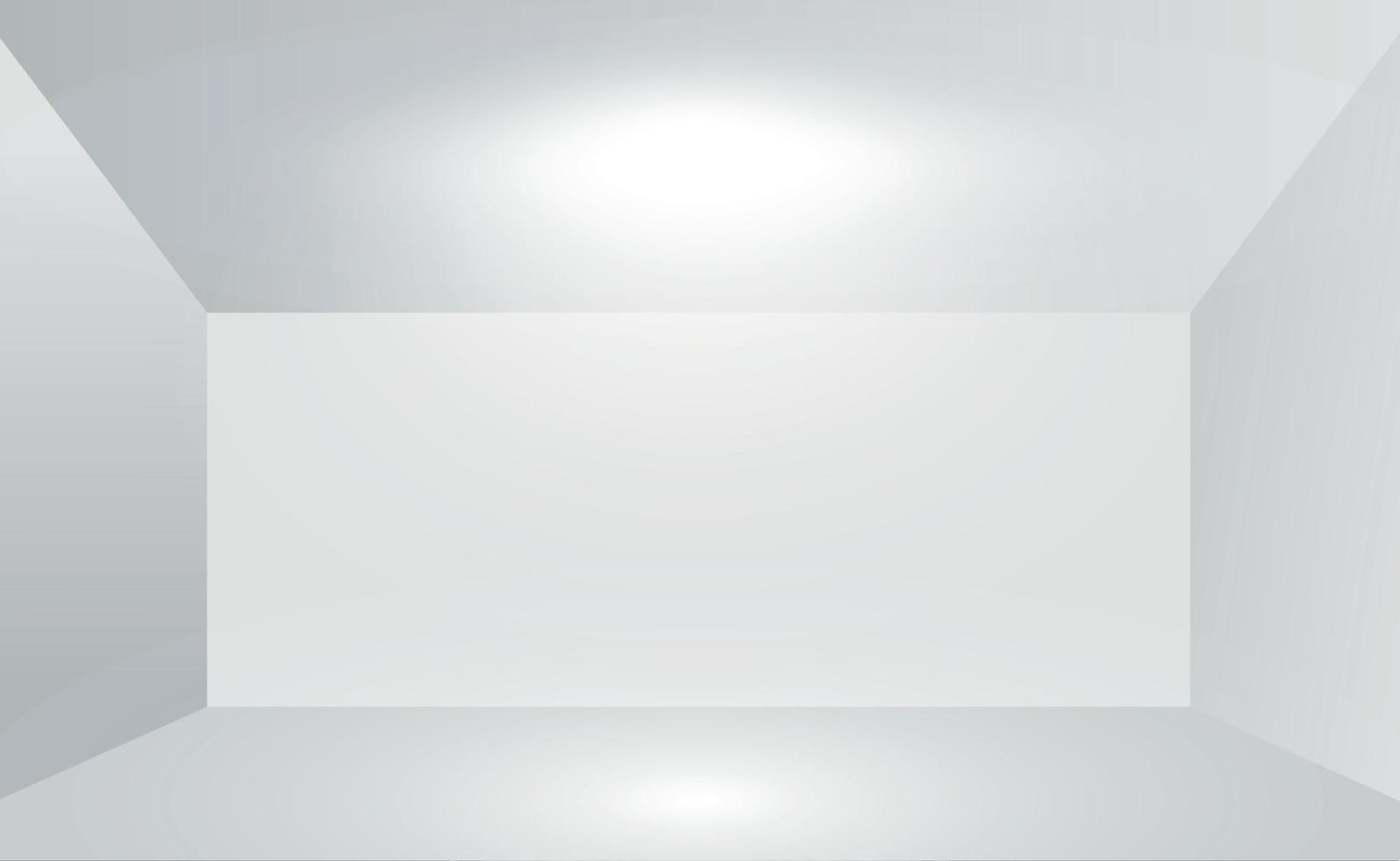 volumetrisk vitgrå studio, abstrakt bakgrund - vektorillustration vektor