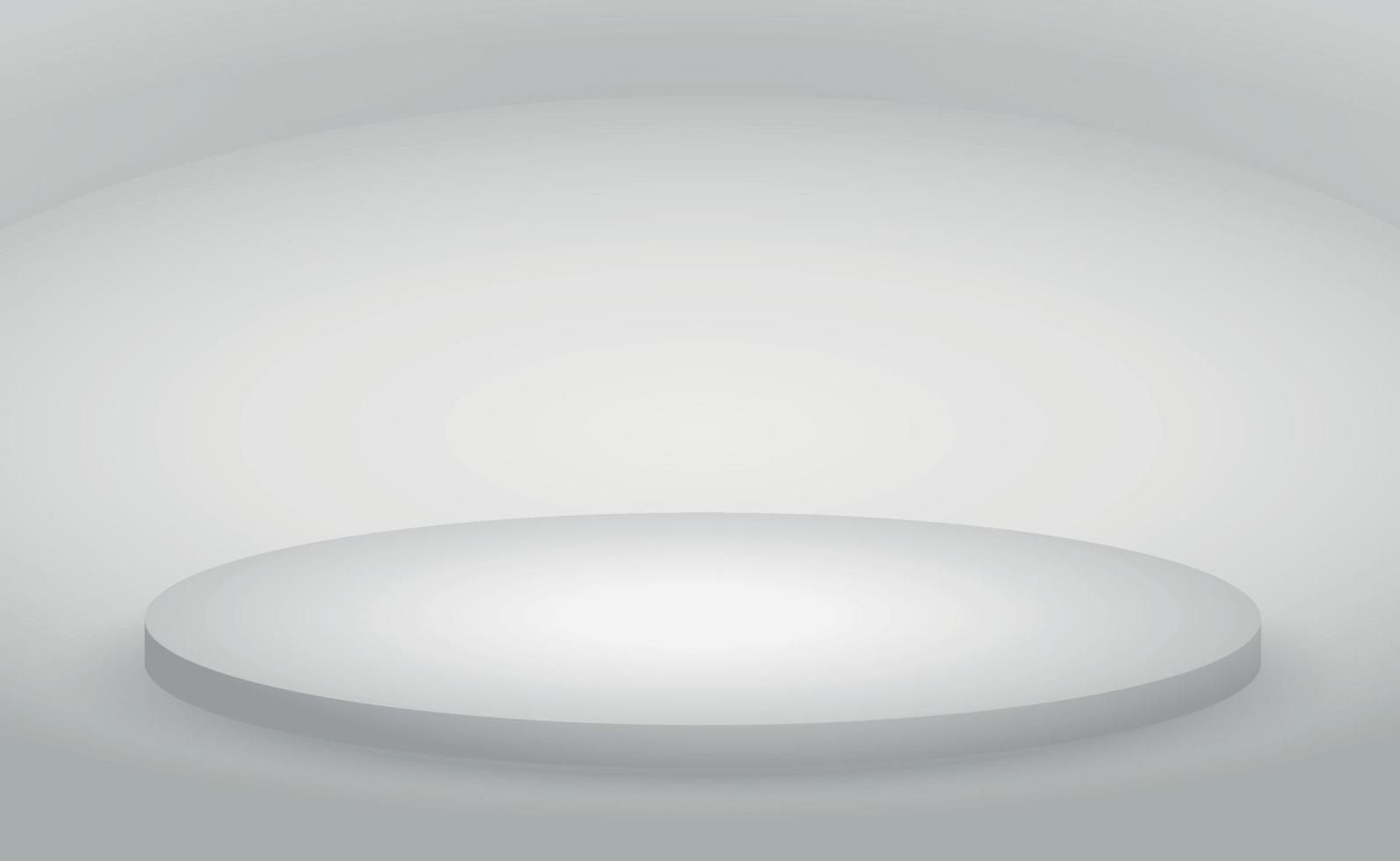 vit och grå rumsstudio för bakgrund - vektor