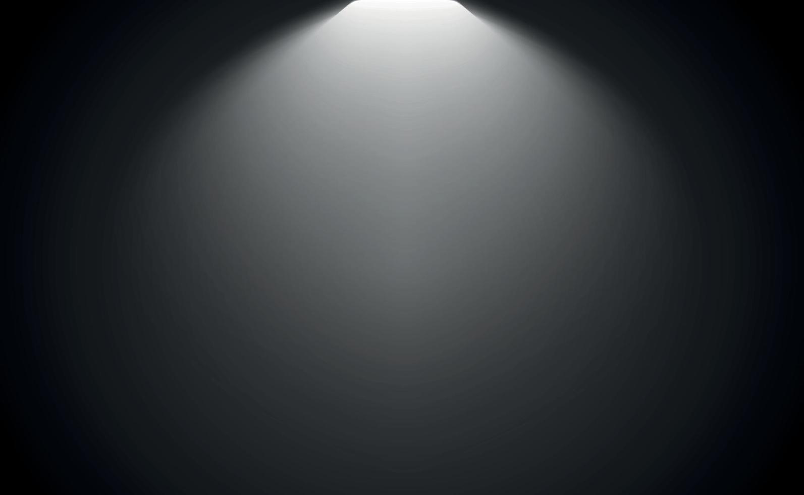 svart panoramastudiobakgrund med vitt sken vektor