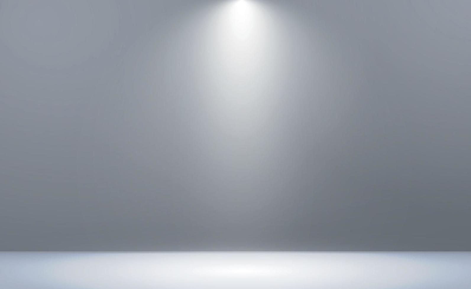vit med grå panoramastudiobakgrund med vit glöd - vektor