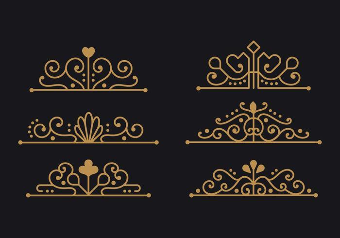 Minimalistische Sammlung von Spanien Ornament für Design-Elemente vektor
