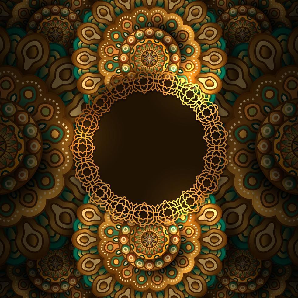eleganter Luxus-Mandala-arabischer Musterdekorationshintergrund vektor
