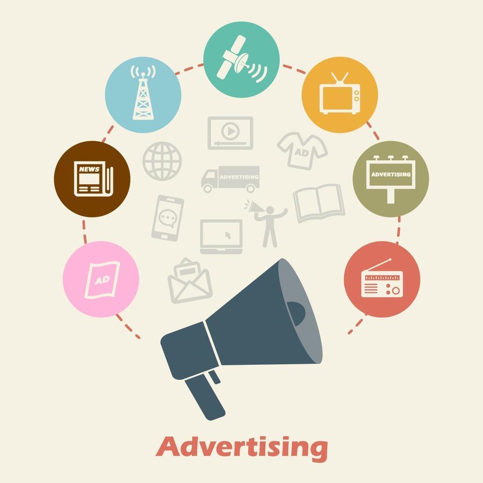 reklam koncept vektor