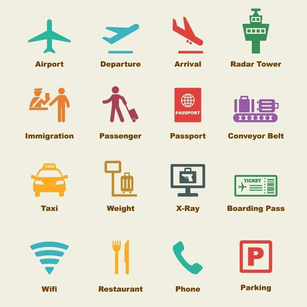 flygplats vektorelement vektor