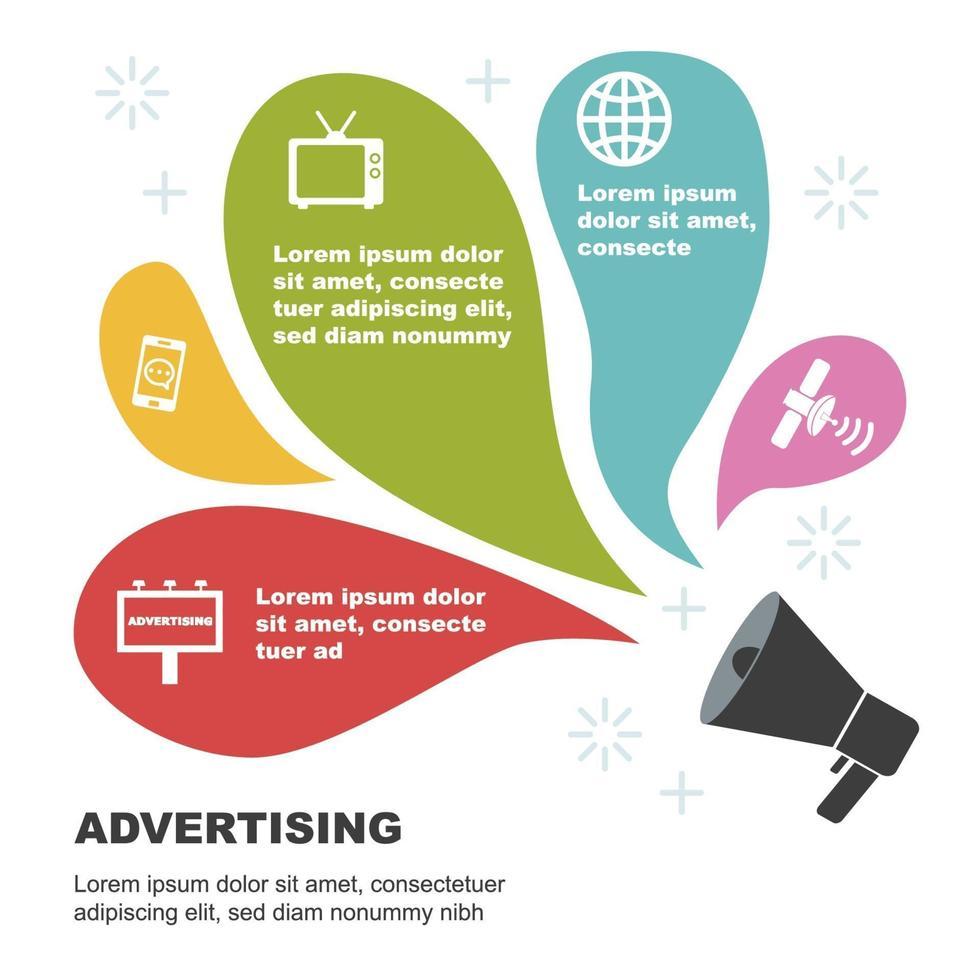 reklam infografiska mallar vektor