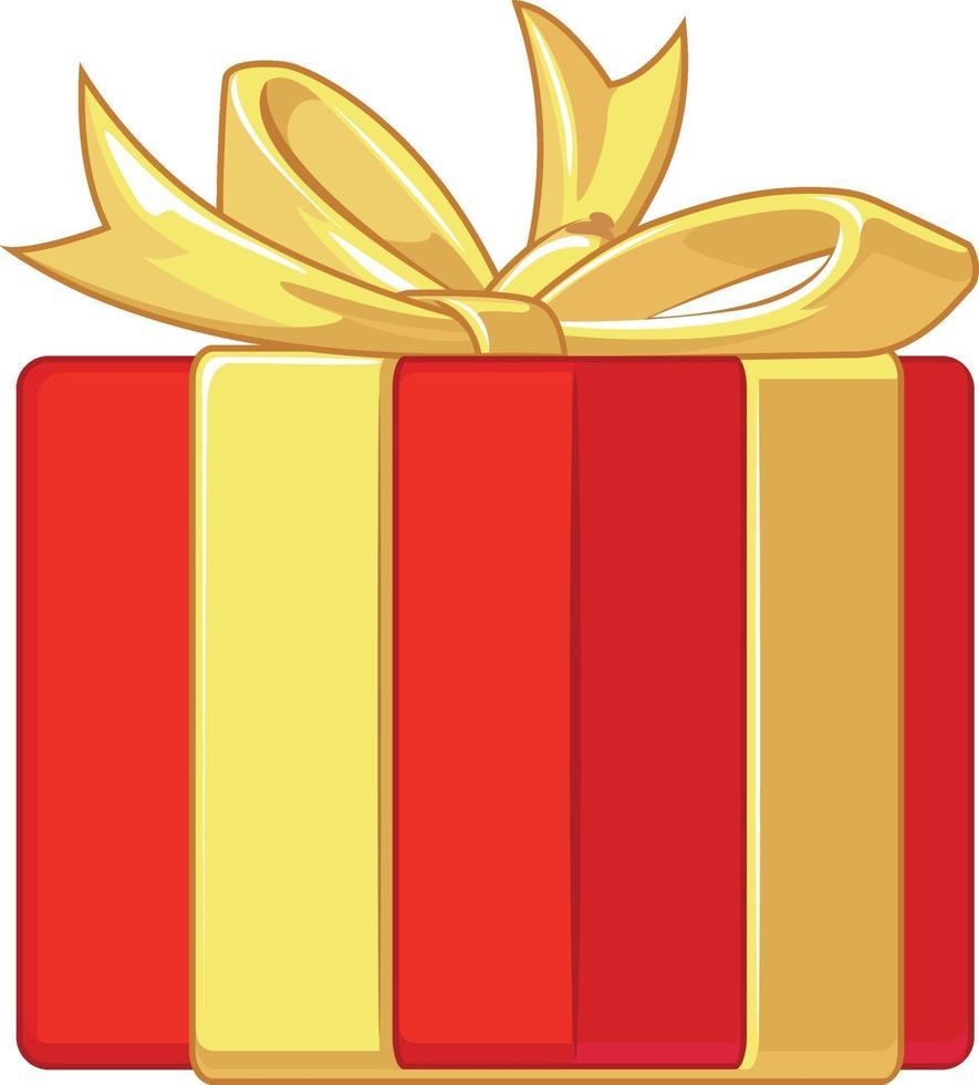 gåva närvarande födelsedag årsdag låda tecknad illustration ritning vektor