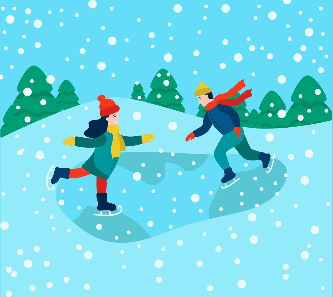 vinterkul och spel vektor
