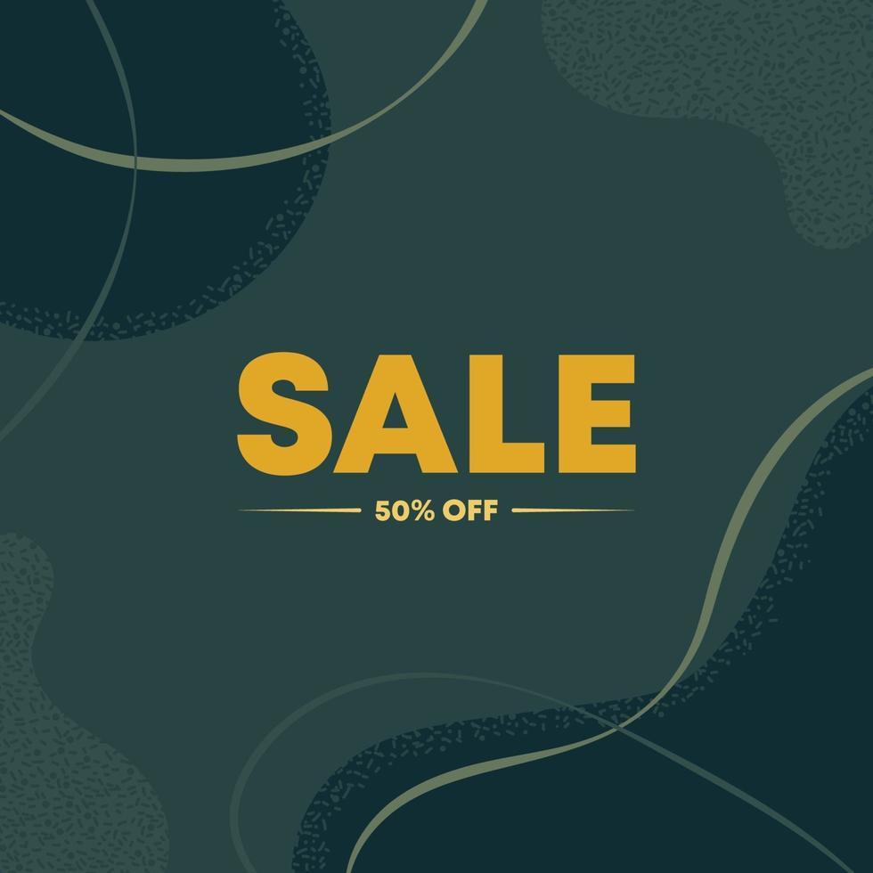 50 procent rabatt bannerabstrakt. försäljning eller svart fredag. platt vektorillustration vektor