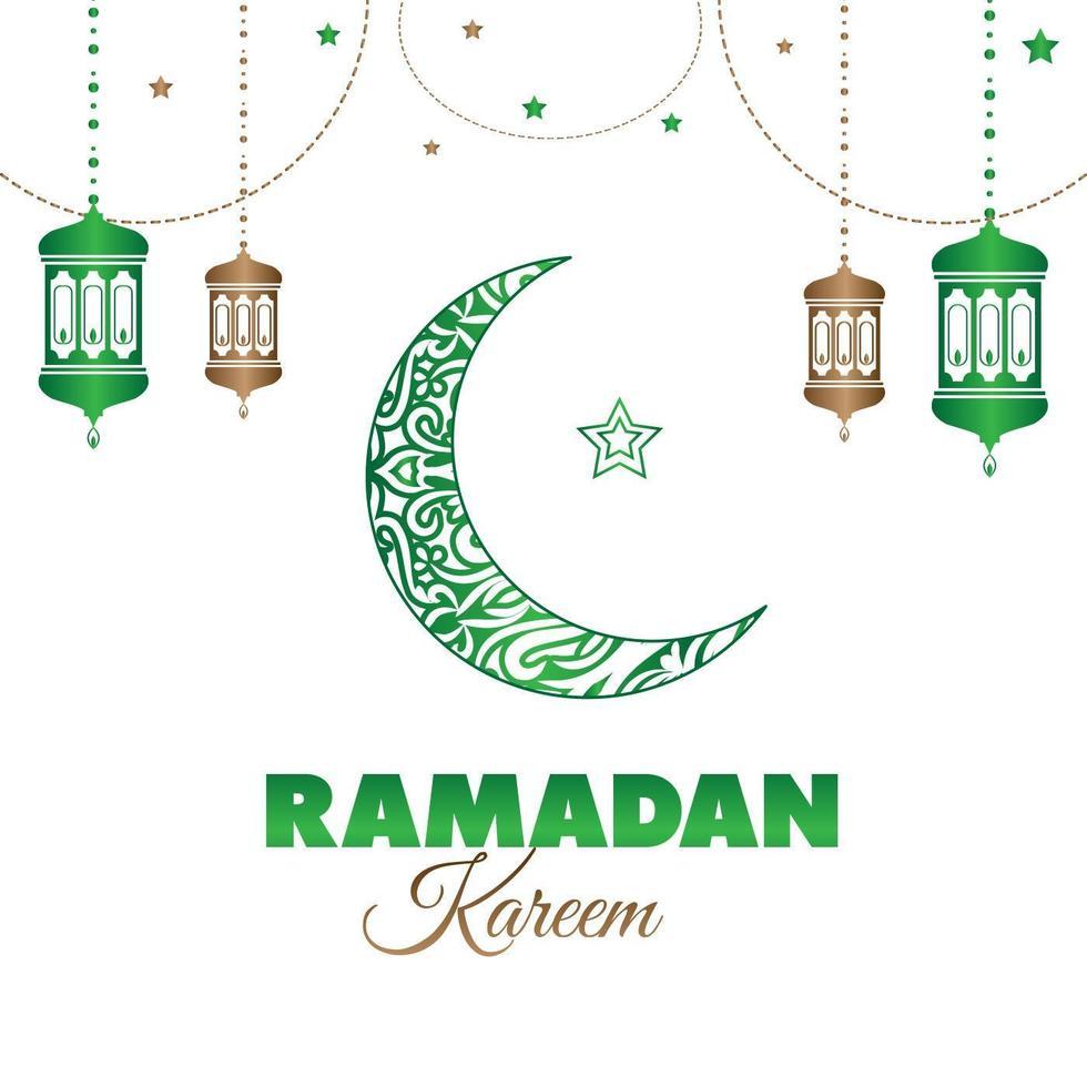 ramadan kareem mubarak gratulationskort vektor