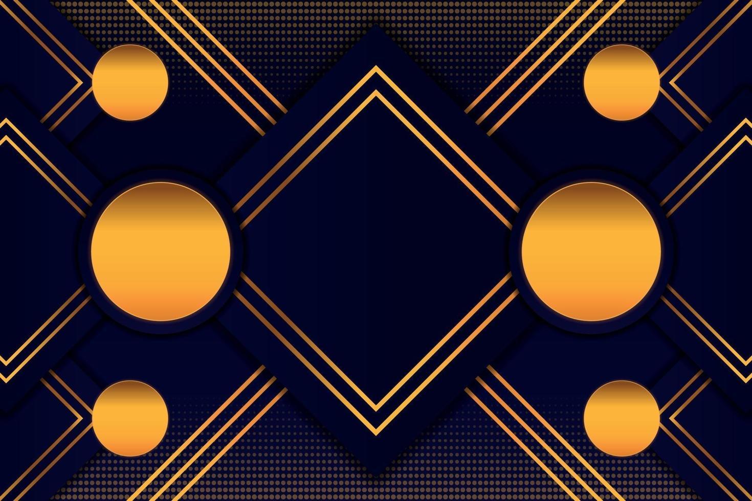prickad bakgrund i svart guld vektor