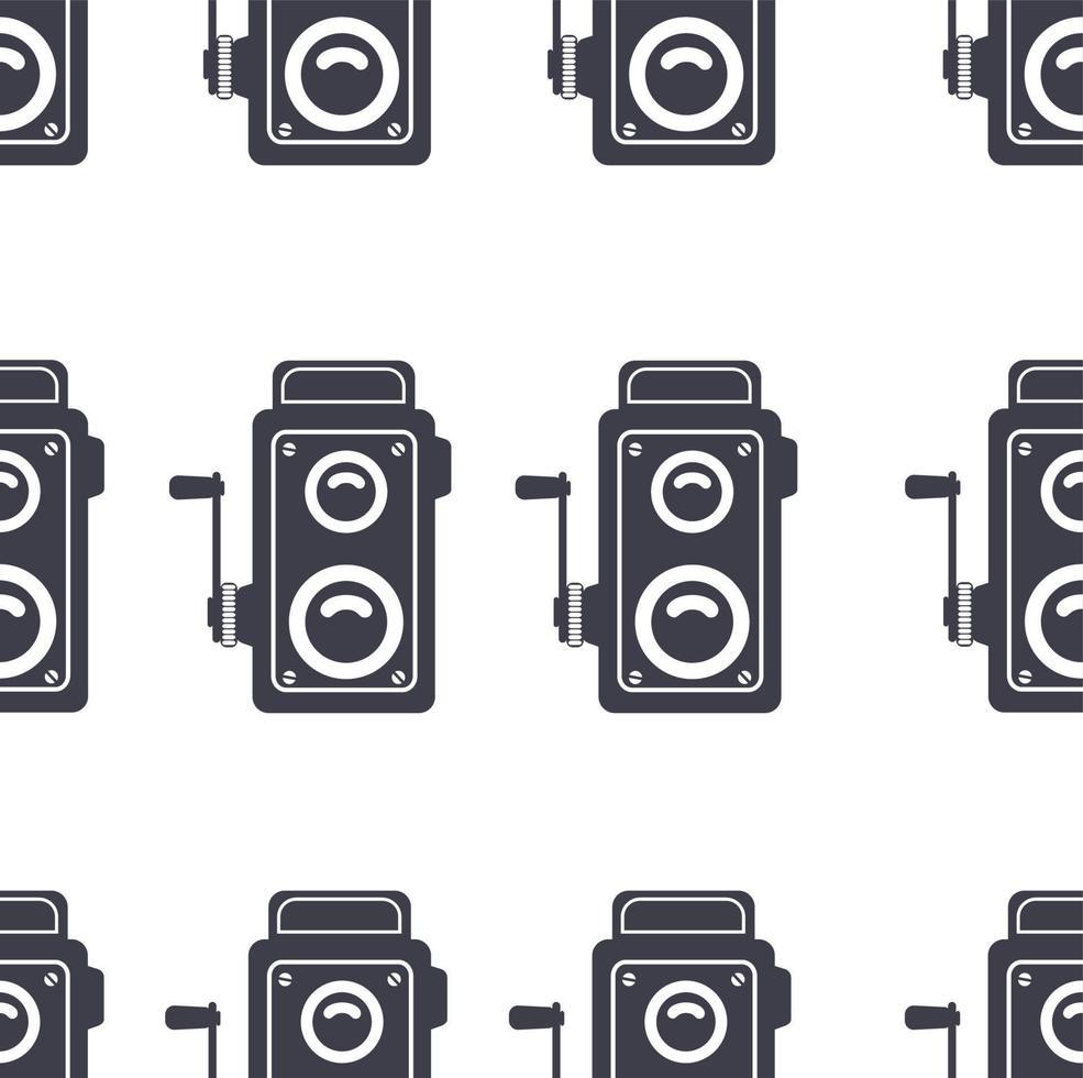 retro kamera gamla tecken sömlösa mönster vektor