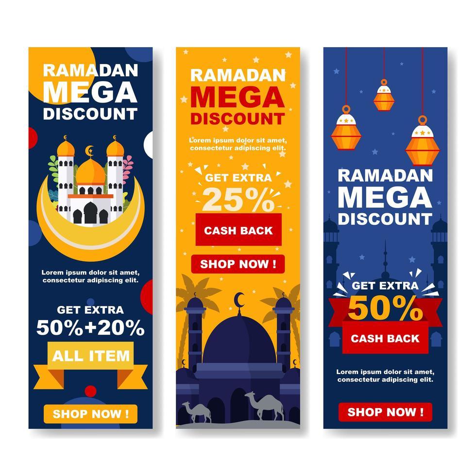 ramadan marknadsföring banner koncept vektor