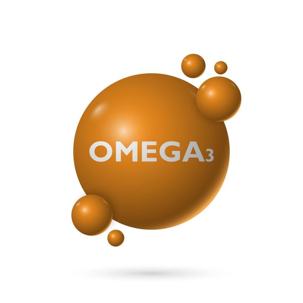 Omega 3 naturlig vätskekapsel, medicin och hälsa, vektorillustration vektor