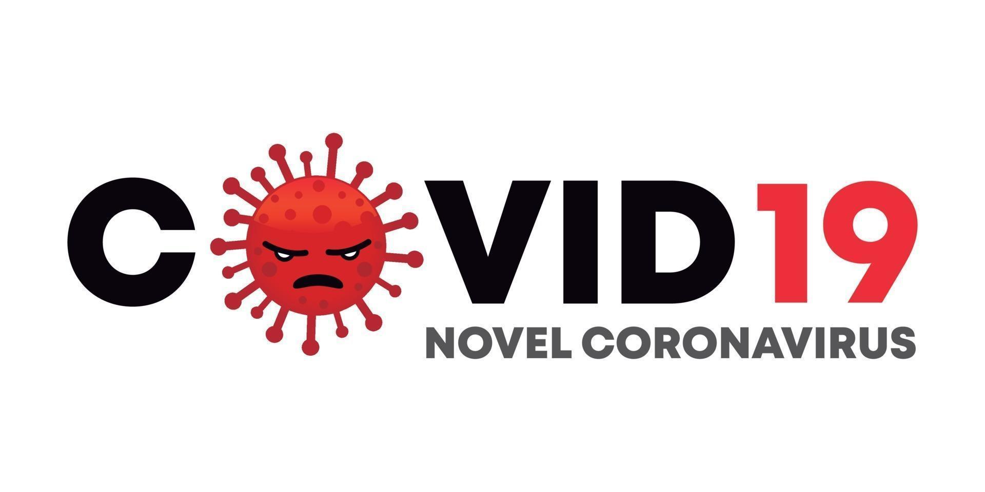 covid 19 roman coronavirus tecknad virusdesign vektor
