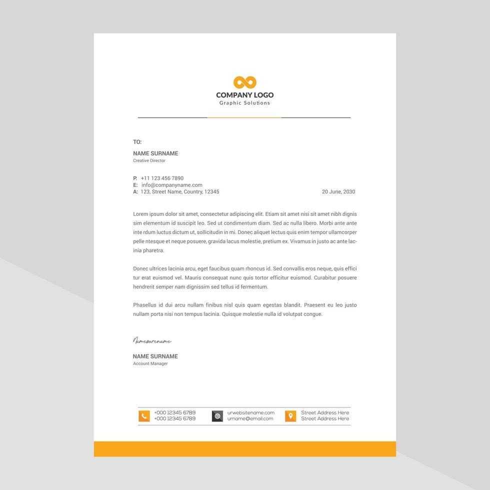 modern företags brevpapper mall design vektor