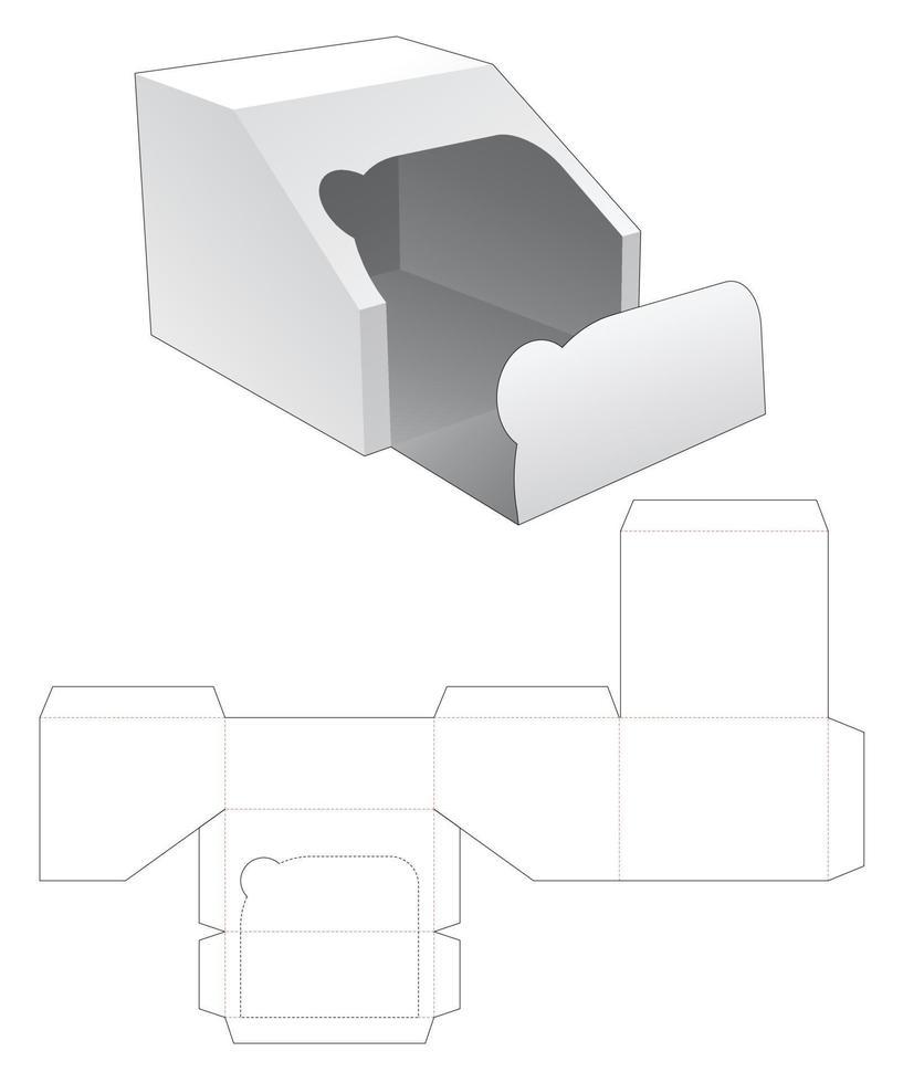 Reißverschluss abgeschrägte Verpackung gestanzte Vorlage vektor