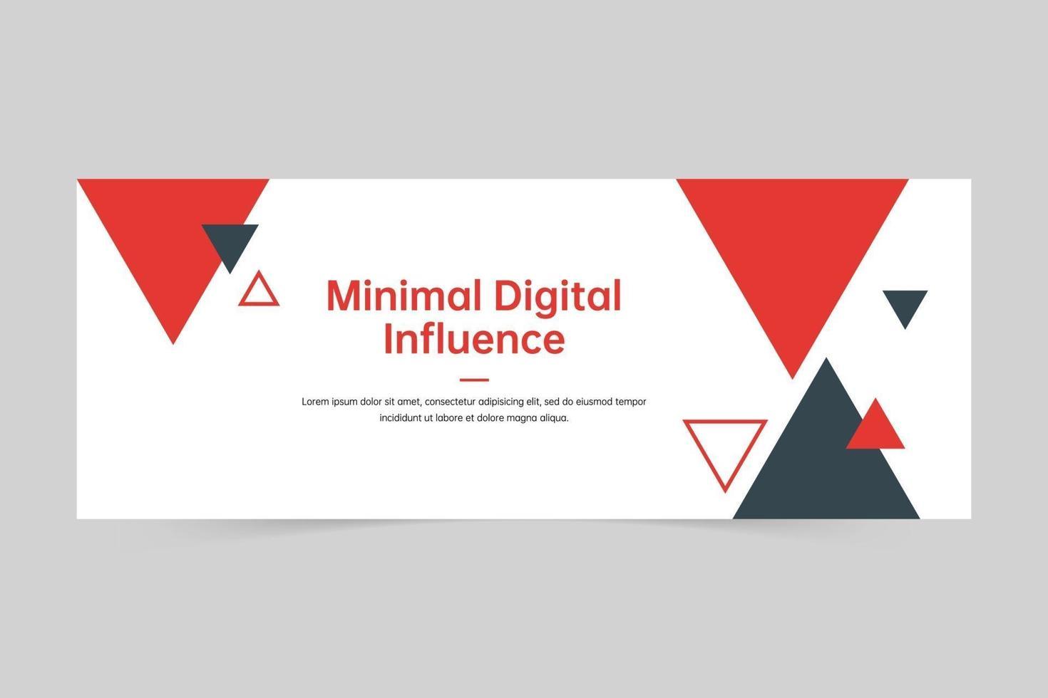 kreativ triangel professionell digital marknadsföringsbyrå banner mall vektor
