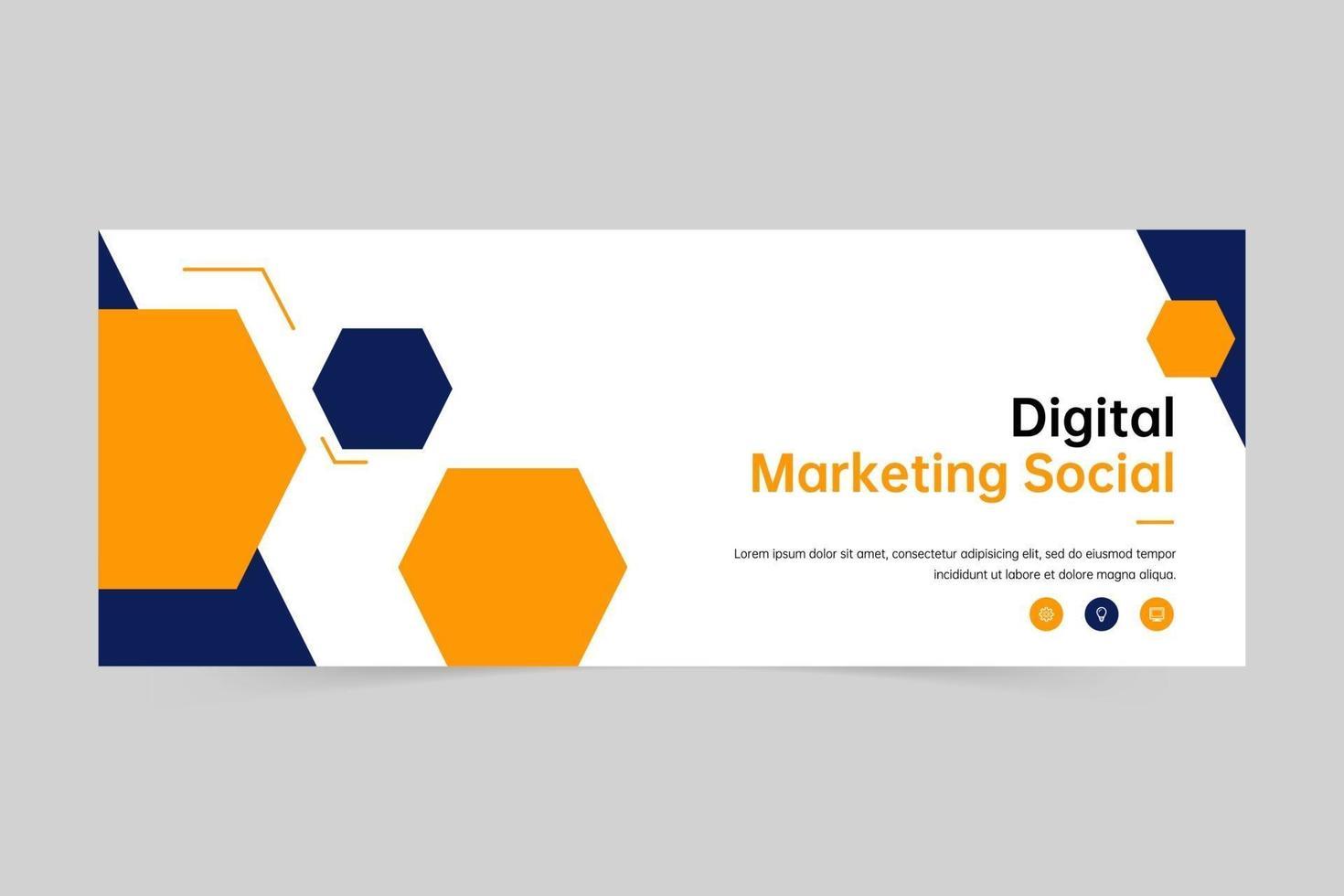 digital marknadsföring banner omslag och webb banner mall vektor