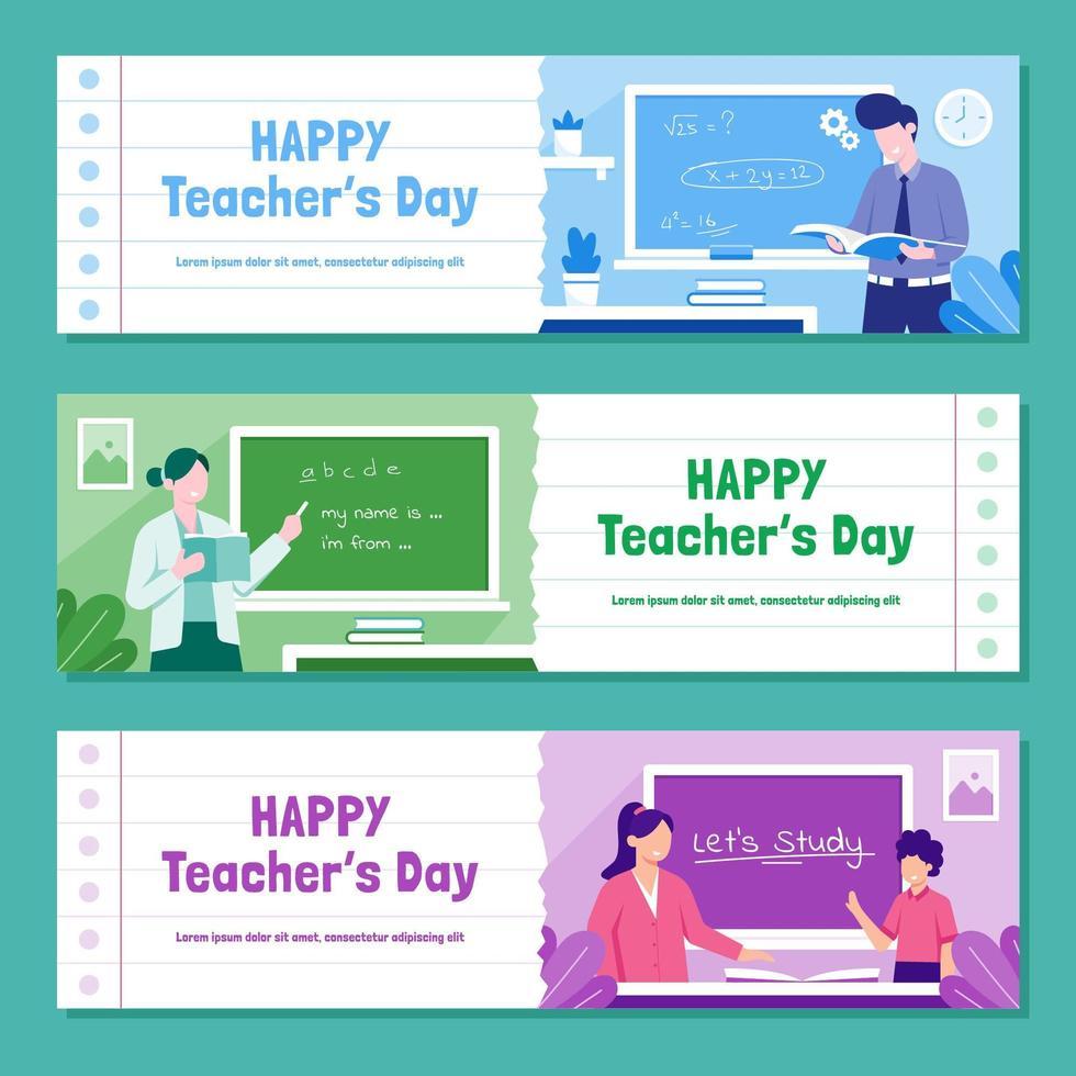 glad lärares dagssamlingssamling vektor