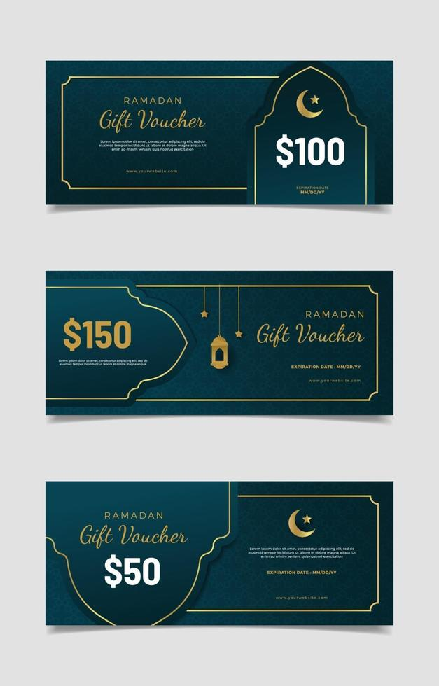 elegant ramadan presentkort set vektor