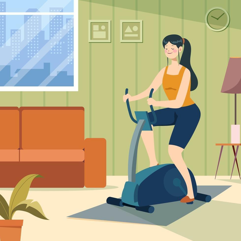 träning hemma vektor