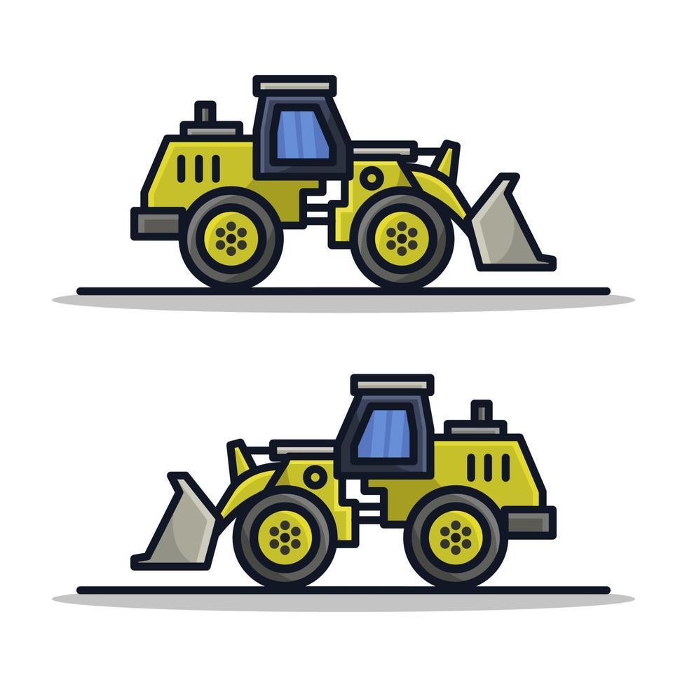 grävmaskin på vit bakgrund vektor