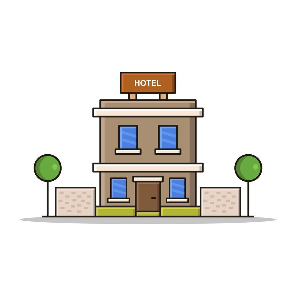 Hotel auf weißem Hintergrund vektor