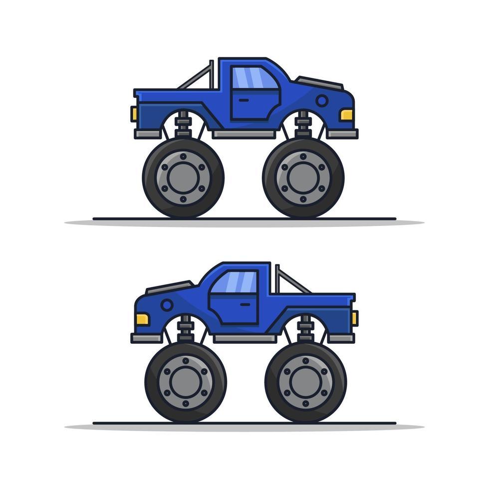 Monsterauto auf weißem Hintergrund vektor