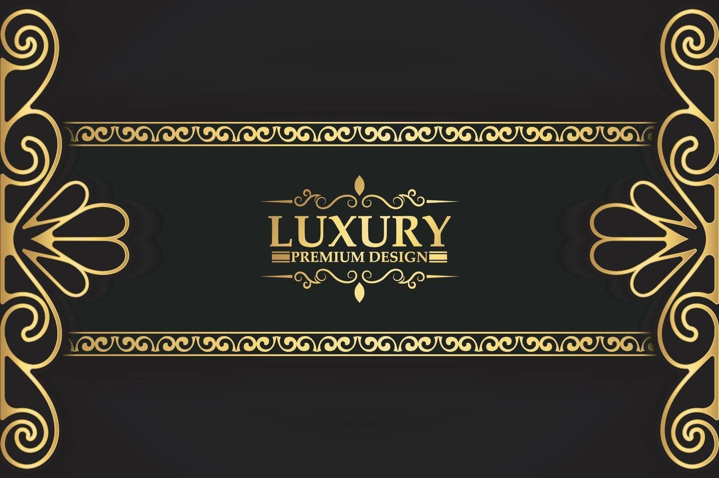 Luxus Gold dekorative Blumenrahmen Hintergrund vektor