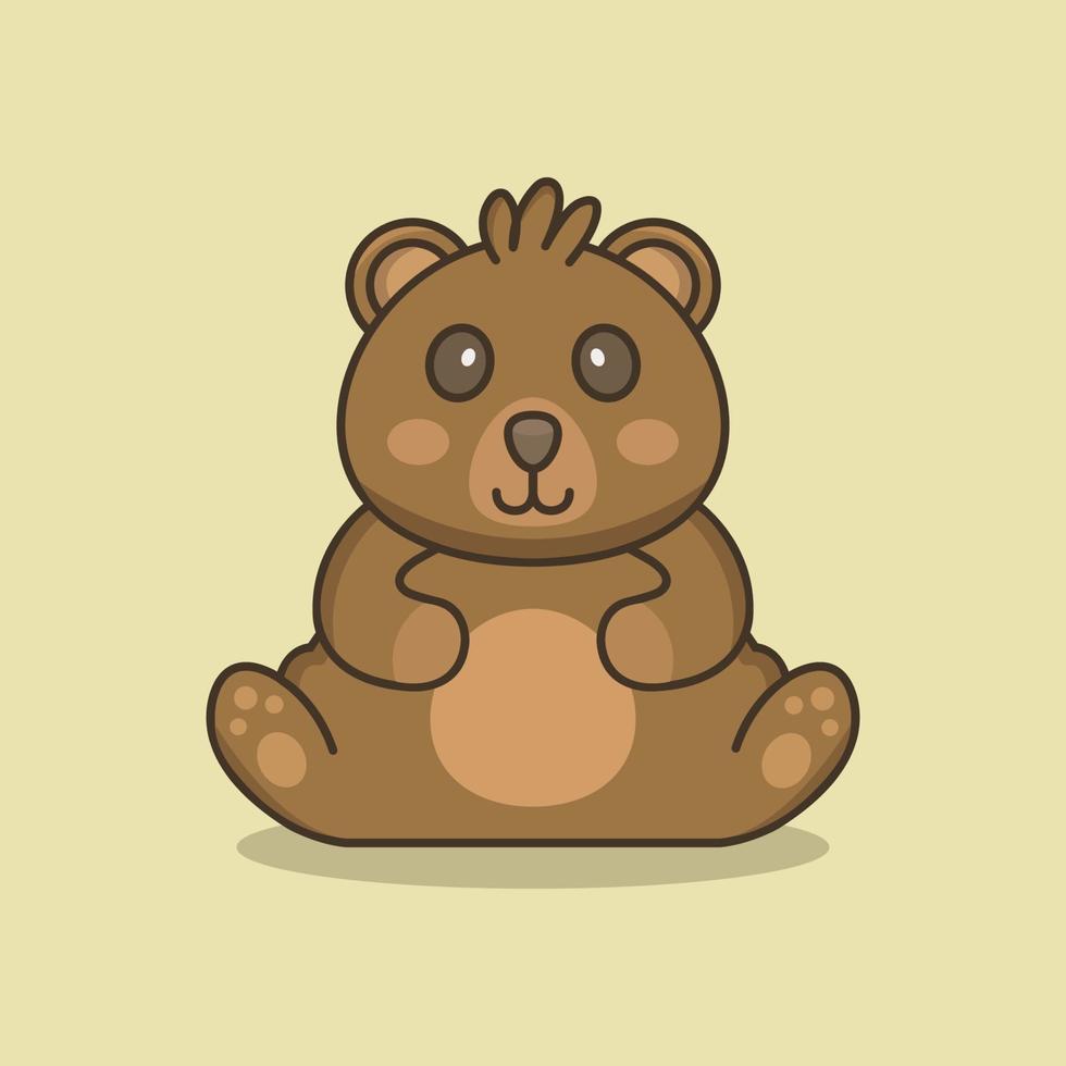 Teddybär auf grünem Hintergrund vektor