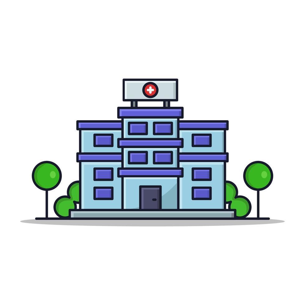 sjukhus på vit bakgrund vektor