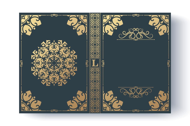Luxus dekorative Buchumschlag Design vektor