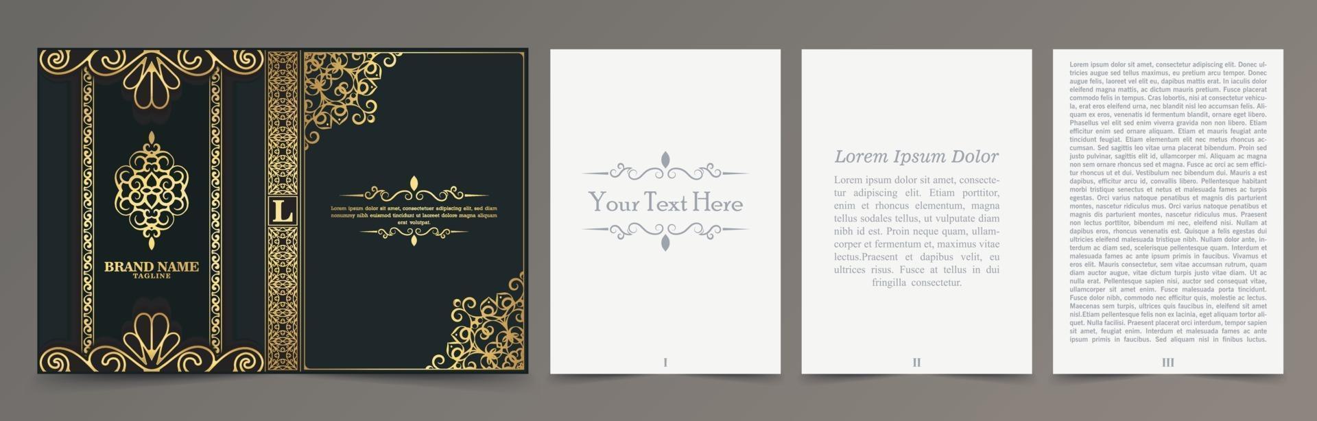 lyx prydnads bokomslag design vektor