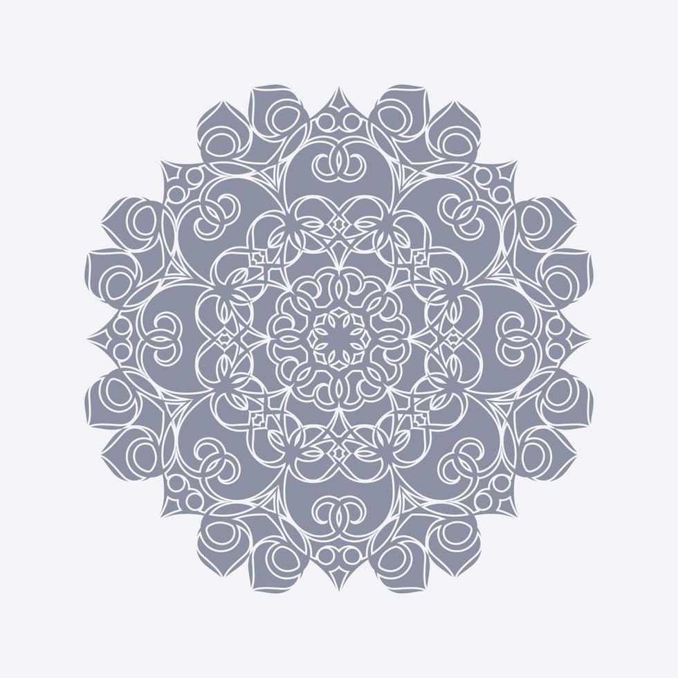 mandala platt bakgrund formgivningsmall vektor