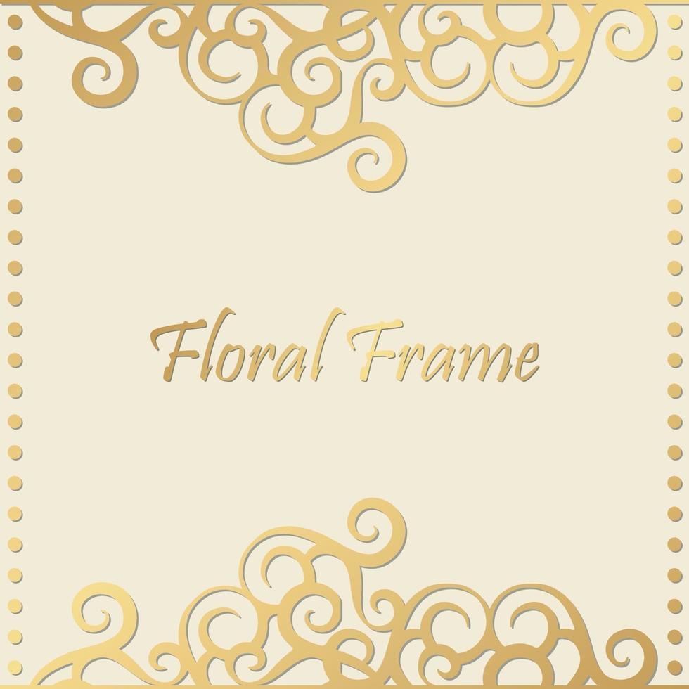lyx dekorativ blommig ram bakgrund vektor