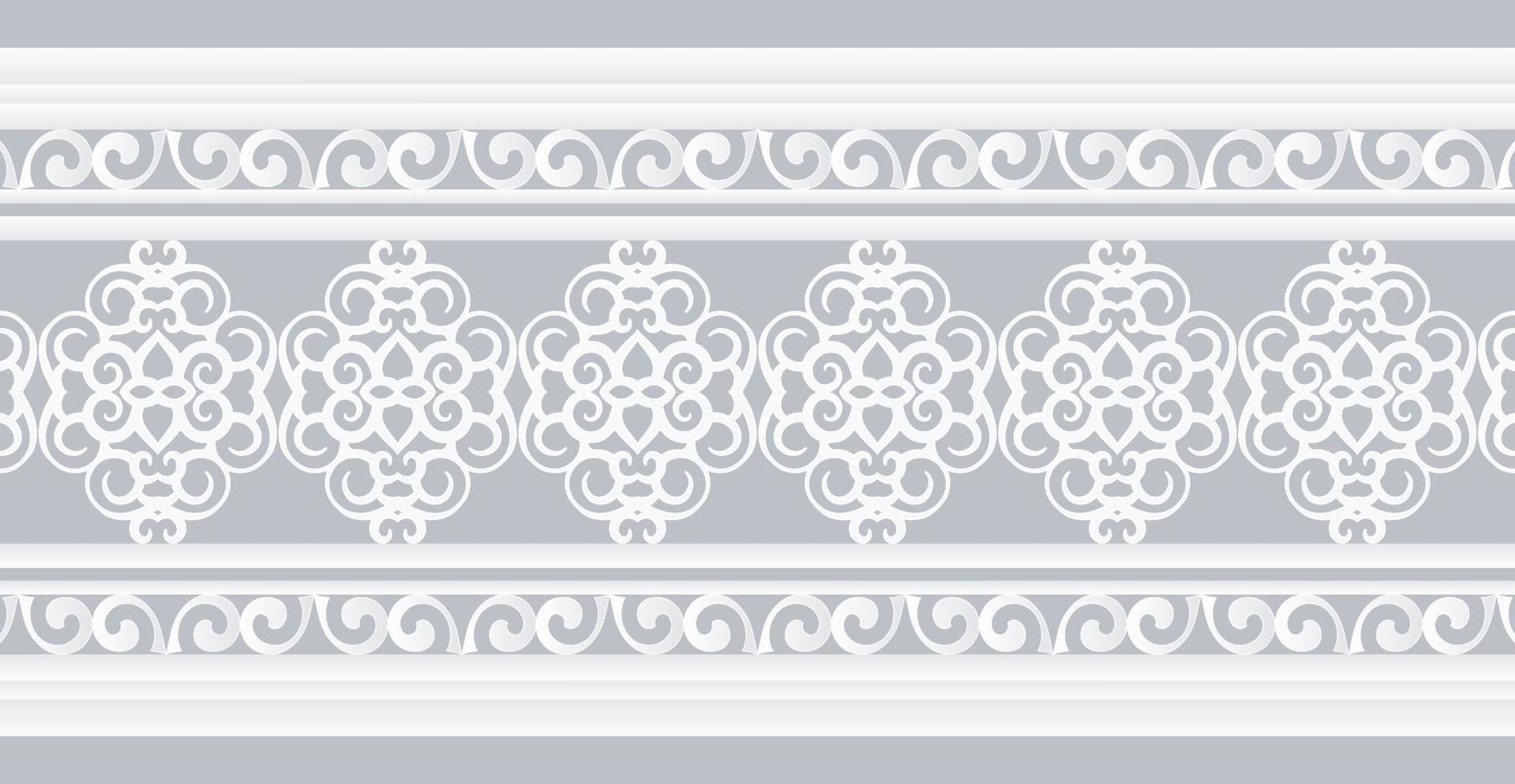 weiße dekorative Randentwurfsschablone vektor
